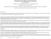 Designing Super-Regenerative Receivers