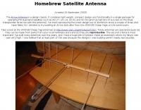 Homebrew Arrow Satellite Antenna
