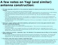 Yagi antenna construction notes