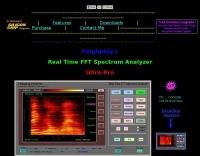 Fatpigdog's Real Time FFT Audio Spectrum Analyzer