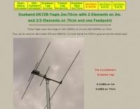 Duoband DK7ZB-Yagis 2m and 70cm