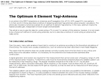 The Optimum 6 Element Yagi-Antenna