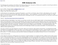 EWE Antenna Info