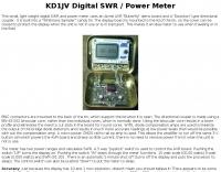 KD1JV Digital SWR / Power Meter