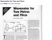 Wavemeter for Two and 70cm