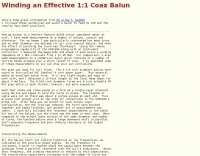 Winding an Effective 1:1 Coax Balun
