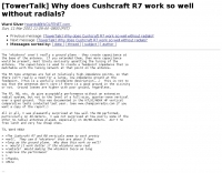 Why does Cushcraft R7 work so well without radials