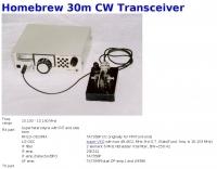 Homebrew 30m CW Transceiver