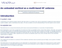 Unloaded vertical as a multi-band HF antenna