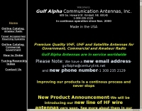 Gulf Alpha Communication Antennas