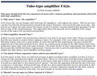 Tube-type amplifier FAQs.