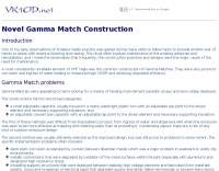 Novel Gamma Match Construction