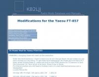 Yaesu FT-857 Modifications