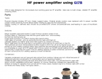 HF power amplifier using GI7B