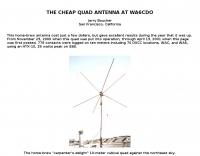 Cubical Quad Antenna for 10 mt.