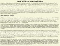 APRS and Fox Huntinhg