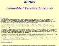 Lindenblad Satellite Antenna by KL7UW