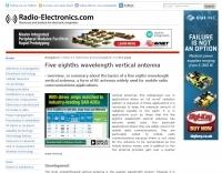 Five eighths wavelength vertical antenna
