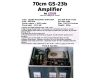 70cm GS-23b Amplifier