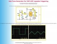 Sub-Tone Generator for repeater triggering