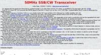 50MHz SSB/CW Transceiver
