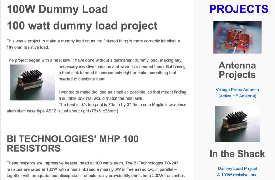100 W Dummy Load