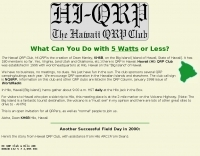 Hi-QRP i Hawaii QRP Club