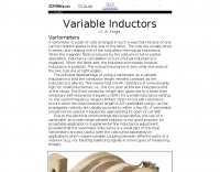 Inductors used  in antenna matching networks