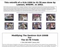 Retrofit of a GLA-1000 to GI-7B