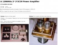 A 1296MHz Amplifier