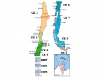Ham map of Chile