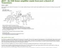 JBOT QRP Linear Amplifier