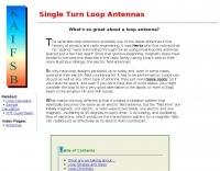 Single Turn Loop Antennas