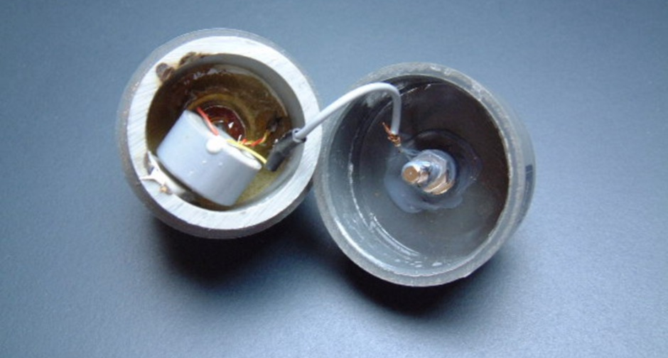 Inside view of a Magnetic Loop Balun