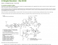 A Simple Receiver - the DC40