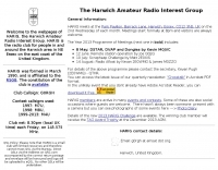 HARIG - The Harwich Amateur Radio Interest Group