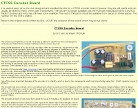 CTCSS Encoder Board