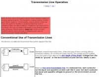 Conventional Use of Transmission Line