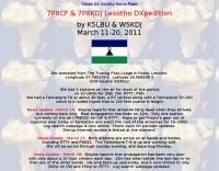 7P8CF 7P8KDJ Lesotho