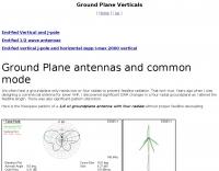 Ground Plane Verticals