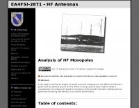 Analysis of HF Monopoles