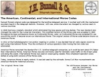 Morse Codes