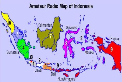Indonesia Ham Radio Map