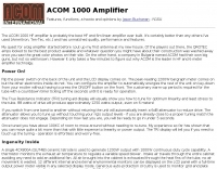 ACOM 1000 review by N1SU