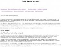 Tuner Baluns on Input