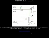 YAESU FT847 all mode cable