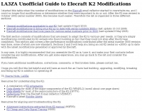 Guide to Elecraft K2 Modifications