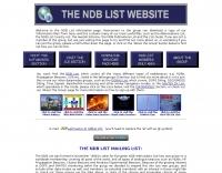 The NDB List website