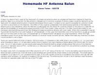 Homemade HF Antenna Balun