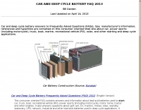 Car and Deep Cycle Battery FAQ